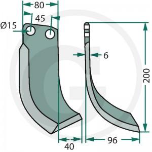Frézovací nôž typ 1, ľavý