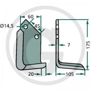 Frézovací nôž typ 6, ľavý
