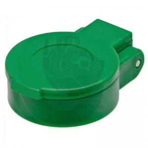 Protiprachové viečko zelené KM DN12-BG3 bez aretácie