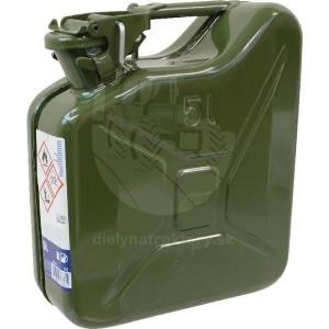 Kanister na palivo 5l, kovový