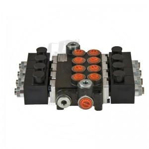 Rozvádzač štvorsekciový 24V, 40 l/min