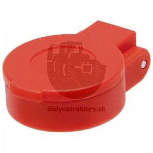 Protiprachové viečko červené KM DN12-BG3 bez aretácie