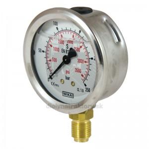 "WIKA Manometer 250 bar, 63 mm – 1/4"", spodné pripojenie"