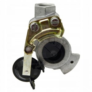 Hlava spojky, M22 x 1,5, čierna, s ventilom, hliníková verzia