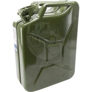 Kanister na palivo 10l, kovový