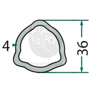 Profilová trubka P6 talianský profil